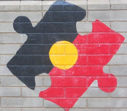 Aboriginal flag puzzle